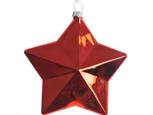 Pack 2 estrellas rojas cristal
