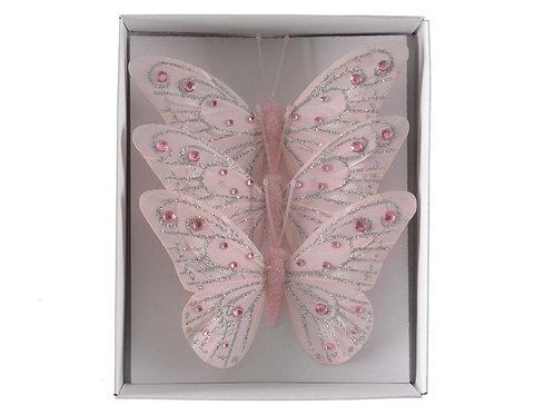 Pack 3 mariposas rosas