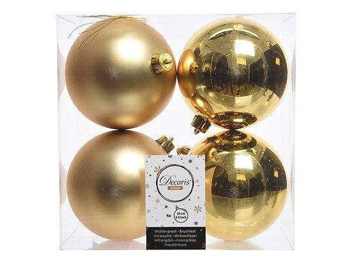 Pack 4 bolas light gold