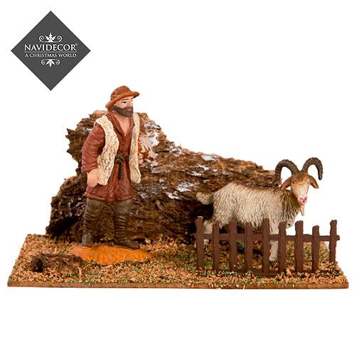 Escena pastor con cabra Oliver 8cm