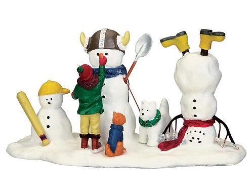 Jugando con muñecos de nieve