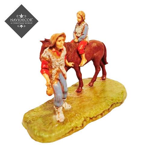 Campesinos con caballo