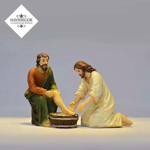 Jesús lavando pies
