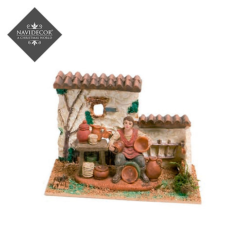 Escena casa ceramista Oliver 8cm