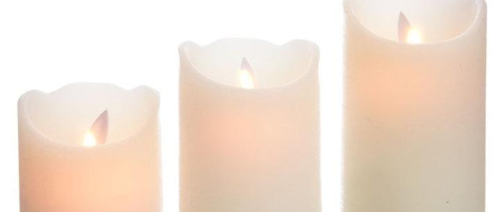 Set 3 velas movimiento