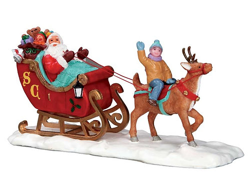 Santa en trineo