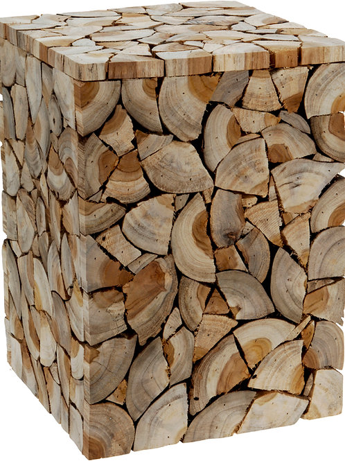 Taburete troncos cuadrado