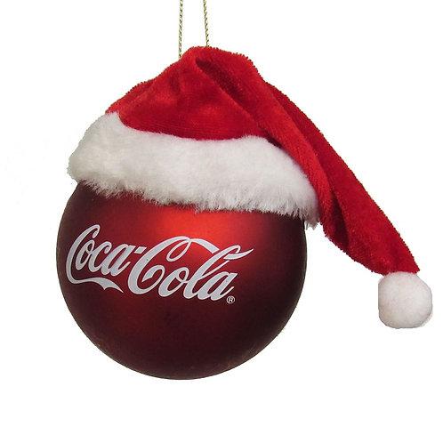 Bola Coca-Cola con gorro