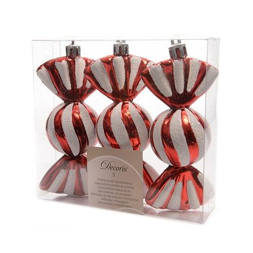 Pack 3 caramelos rojo
