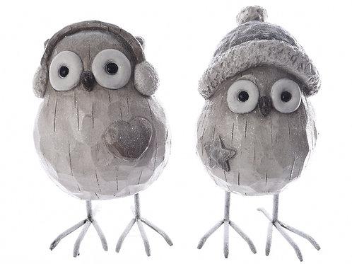 Pájaro poly gris