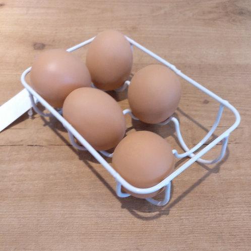 Base para huevos de metal