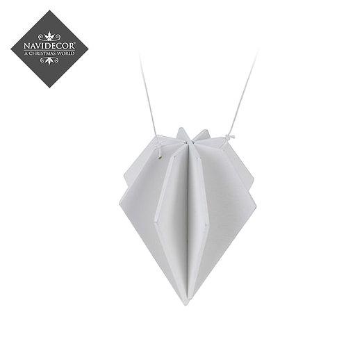 Set 3 Ornamentos blancos hexagonales