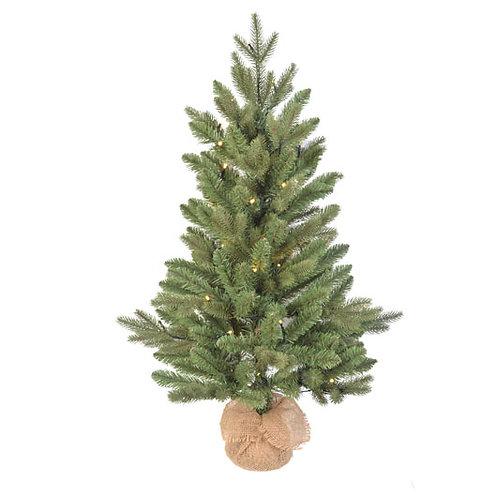 Árbol Burlap Campbell Spruce con leds
