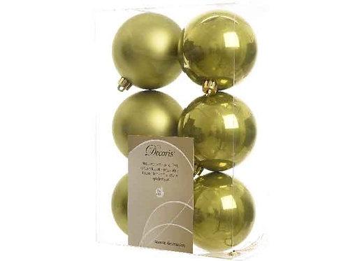 Pack 6 bolas verde oliva