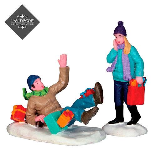 Caída con regalos