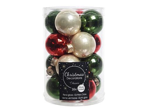 Pack 16 bolas Christmas mix