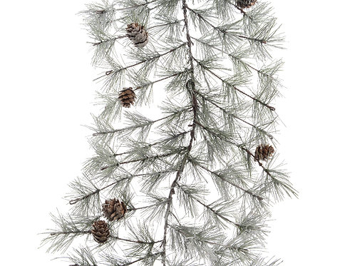 Guirnalda frosted pinecones