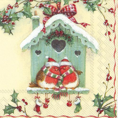 Happy Christmas birdhouse