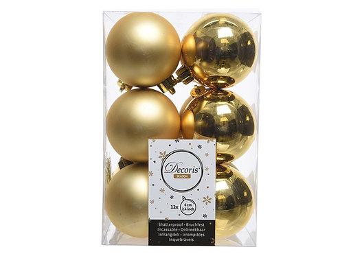 Pack 12 bolas light gold
