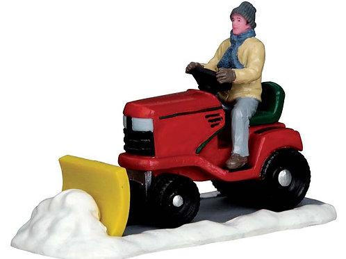 Ride on snowplow