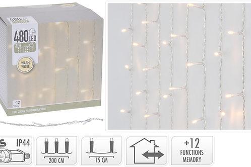 ILUMINACION FORMA CORTINA 480 LEDS 12 FUNCIONES