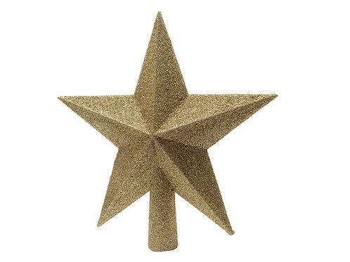 Estrella punta árbol dorada