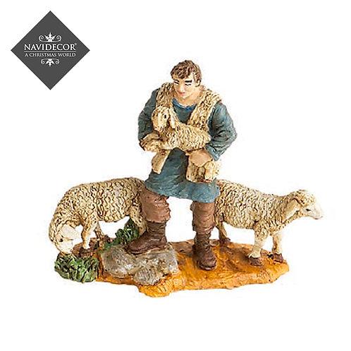 Oliver pastor con ovejas 8cm