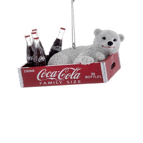 Osito polar en caja Coca-Cola
