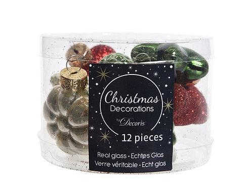 Pack 12 figuras de cristal christmas mix