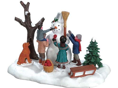 Muñeco de nieve victoriano