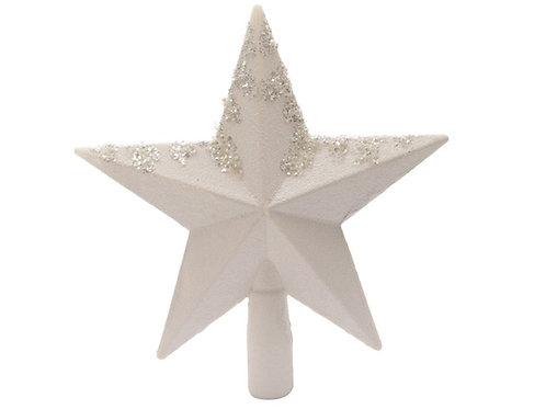 Punta estrella blanca con brillos