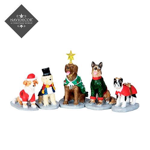 Perros navideños