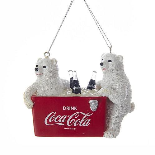 Osos en nevera de Coca-Cola