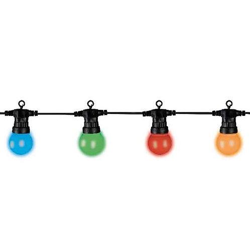 Guirnalda led 20 globos multicolor extensión