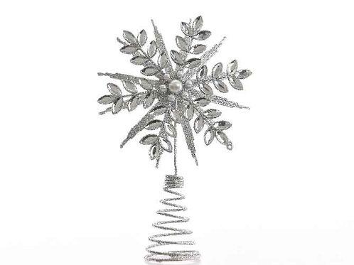 Punta árbol snowflake
