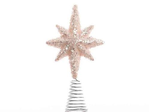 Estrella punta árbol blush pink
