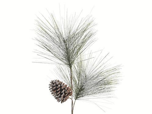 Rama pinegreen con nieve
