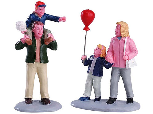 Familia en carnaval