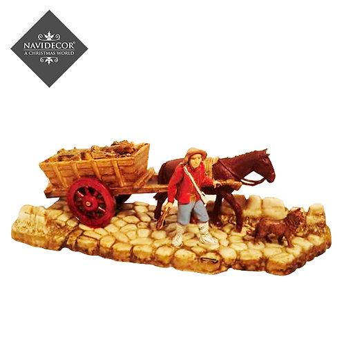 Campesino con caballo y carro