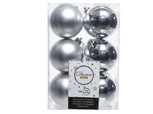 Pack 12 bolas plata