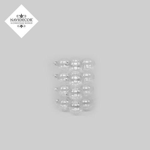 Pack 9 bolas cristal transparente 10cm