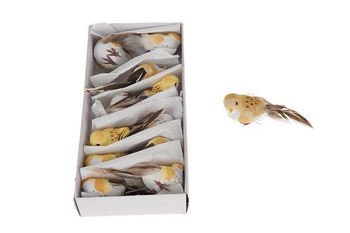 Caja 12 pájaros amarillos
