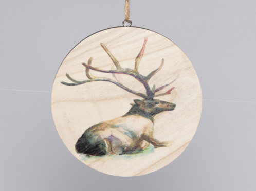 Disco madera ciervo G