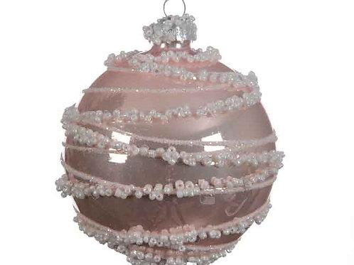 Pack 3 bolas rosa linea perlas