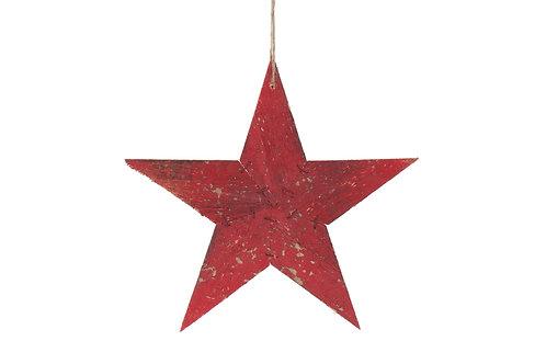Estrella madera roja S