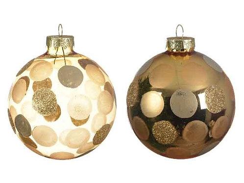 Pack 3 bolas lunares dorados