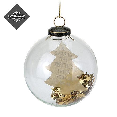 Set 2 Bolas de Cristal árbol/estrella dorado