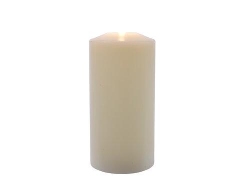 VELA LED DE CERA TIPO IGLESIA COLOR CREMA DIAM. 7.5X19 CM 1L