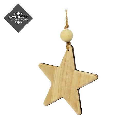 Colgante madera estrella
