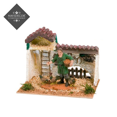 Escena casa gallinero Oliver 8cm